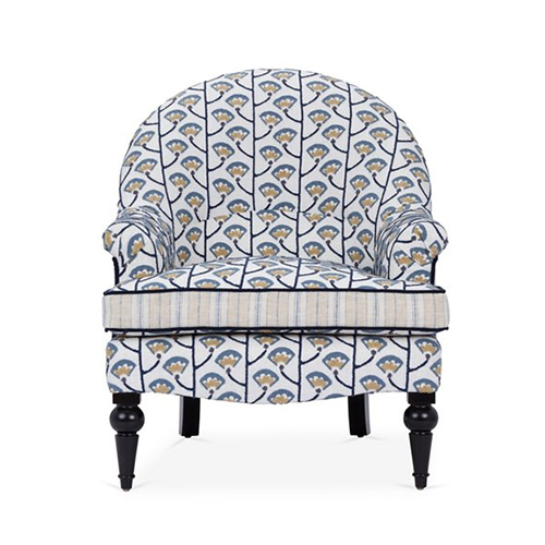 Awesome Tatum Accent Chair Fenfang Indigo Gmtry Best Dining Table And Chair Ideas Images Gmtryco